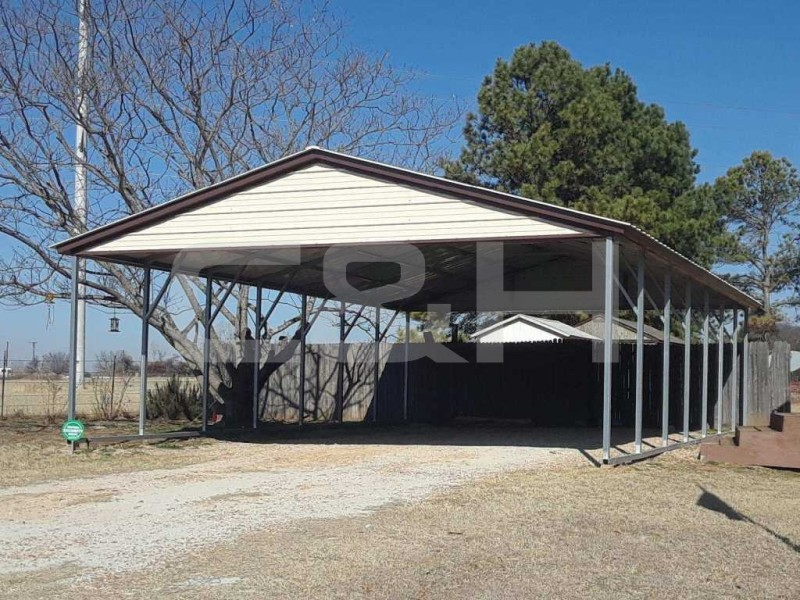 VERTICAL ROOF CARPORT 24W x 36L x 8H