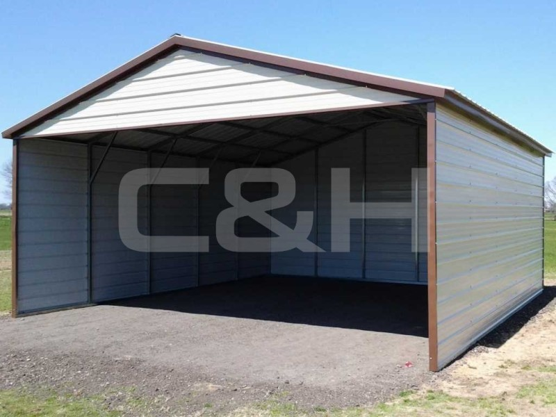 VERTICAL ROOF CARPORT 24W x 26L x 9H