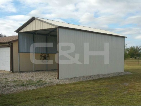 VERTICAL ROOF CARPORT 18W x 31L x 9H