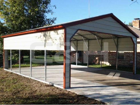 VERTICAL ROOF CARPORT 22W x 26L x 8H