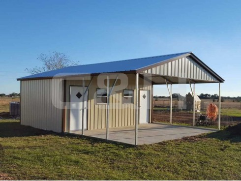 VERTICAL ROOF CARPORT 22W x 31L x 8H Copy
