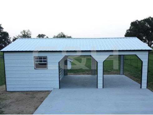 VERTICAL ROOF CARPORT 22W x 31L x 8H