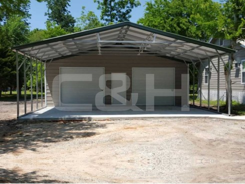 VERTICAL ROOF CARPORT 30W x 41L x 9H