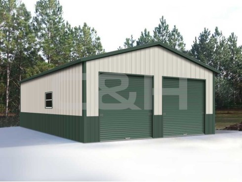 VERTICAL ROOF GARAGE 24W x 41L x 12H
