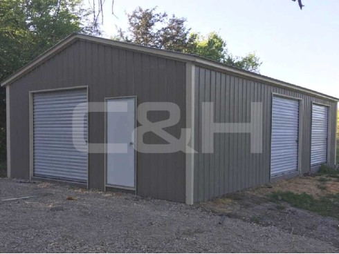 VERTICAL ROOF GARAGE 22W x 36L x 9H