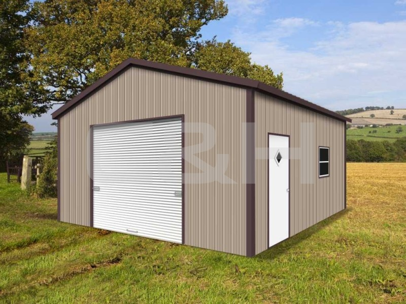 VERTICAL ROOF GARAGE 18W x 26L x 9H