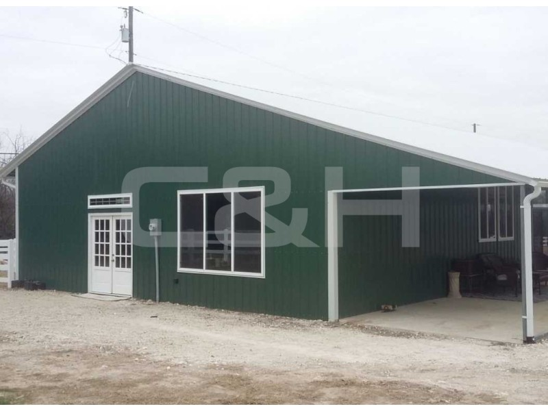 CLEAR SPAN COMMERCIAL BUILDING 44W x 51L x 12H