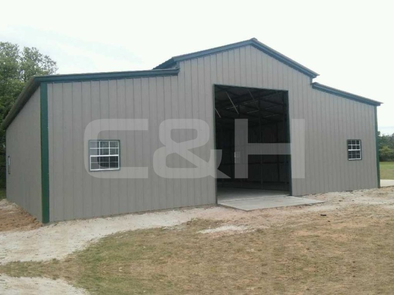 Texas A-Frame Barn with Vertical Roof 42Wx36Lx12H